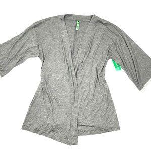 Honeydew Intimates Women's Grey Lace Sleeves Robe